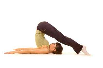 Demonstration of  Halasana