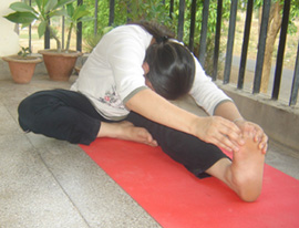 janushirasana head to knee pose