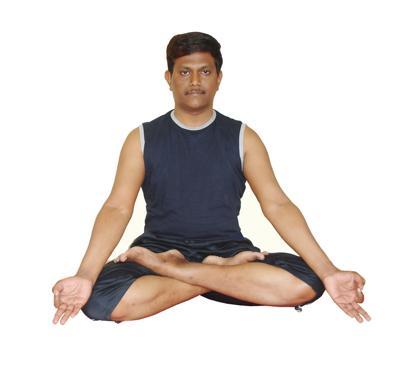 Padmasana by Krishna